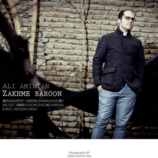 دانلود آهنگ جدید زخم بارون از علی امینیان
