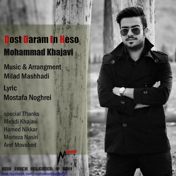 دانلود آهنگ جدید دوست دارم این حسو از محمود خواجوی